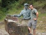 Con mi amigo Pepe el de Fresneda, guarda mayor.