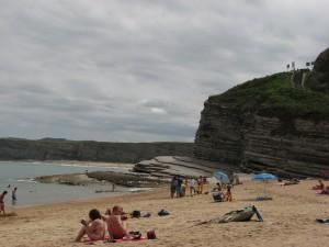 Playa de Langre lado este.