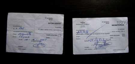 Los dos tickets... cual es el auténtico??